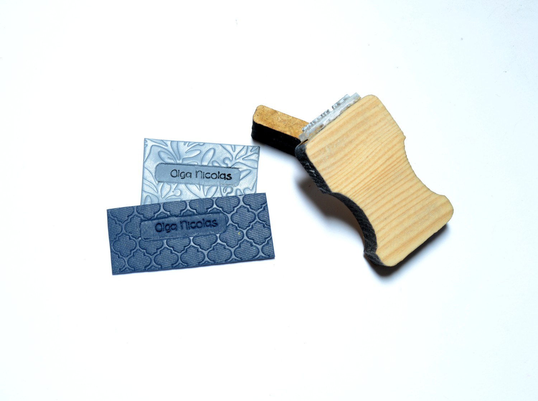 tampon signature pour pâte polymère