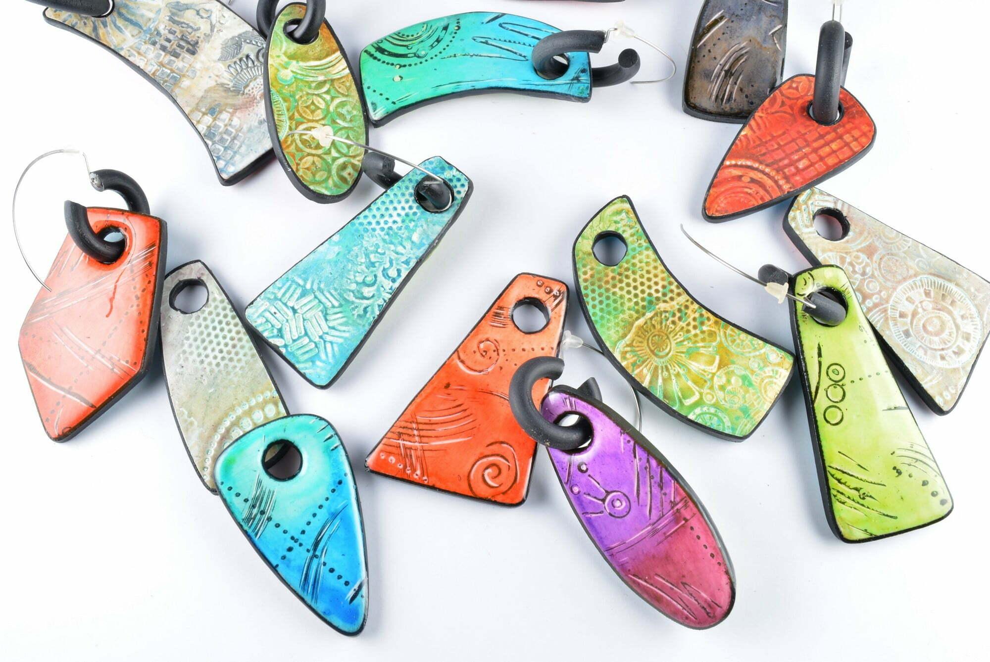 polymer clay workshop Olga Nicolas reversible earrings