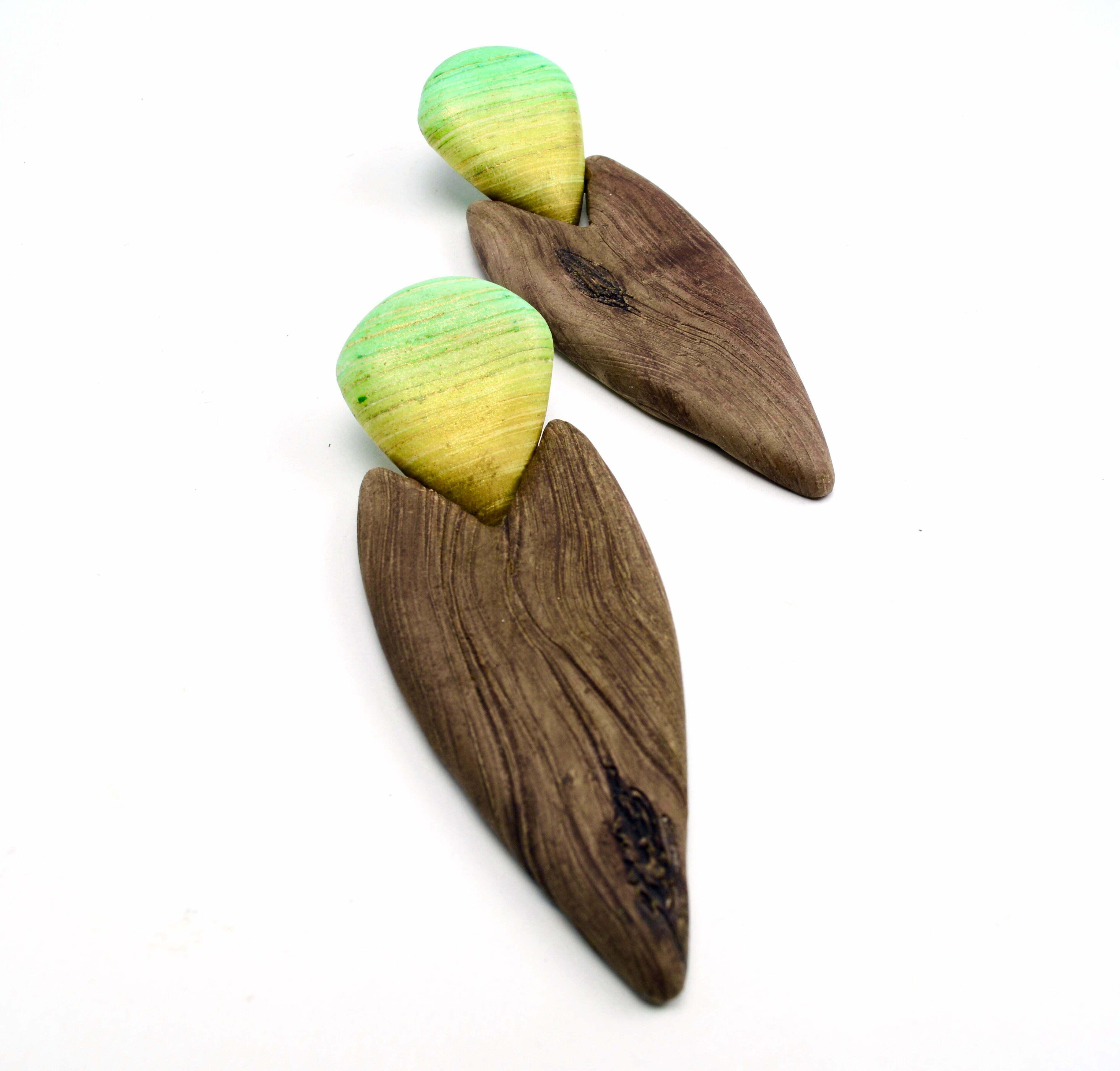 faux wood effect polymer clay olga nicolas