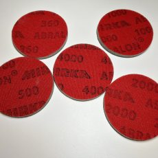 abrasive pads for polymer clay