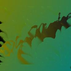 polymer clay stencil- Flowering plant
