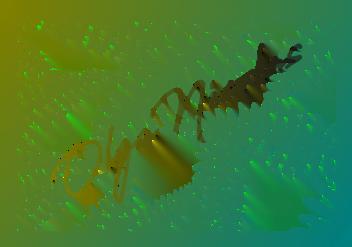polymer clay stencil Fern - Leaf