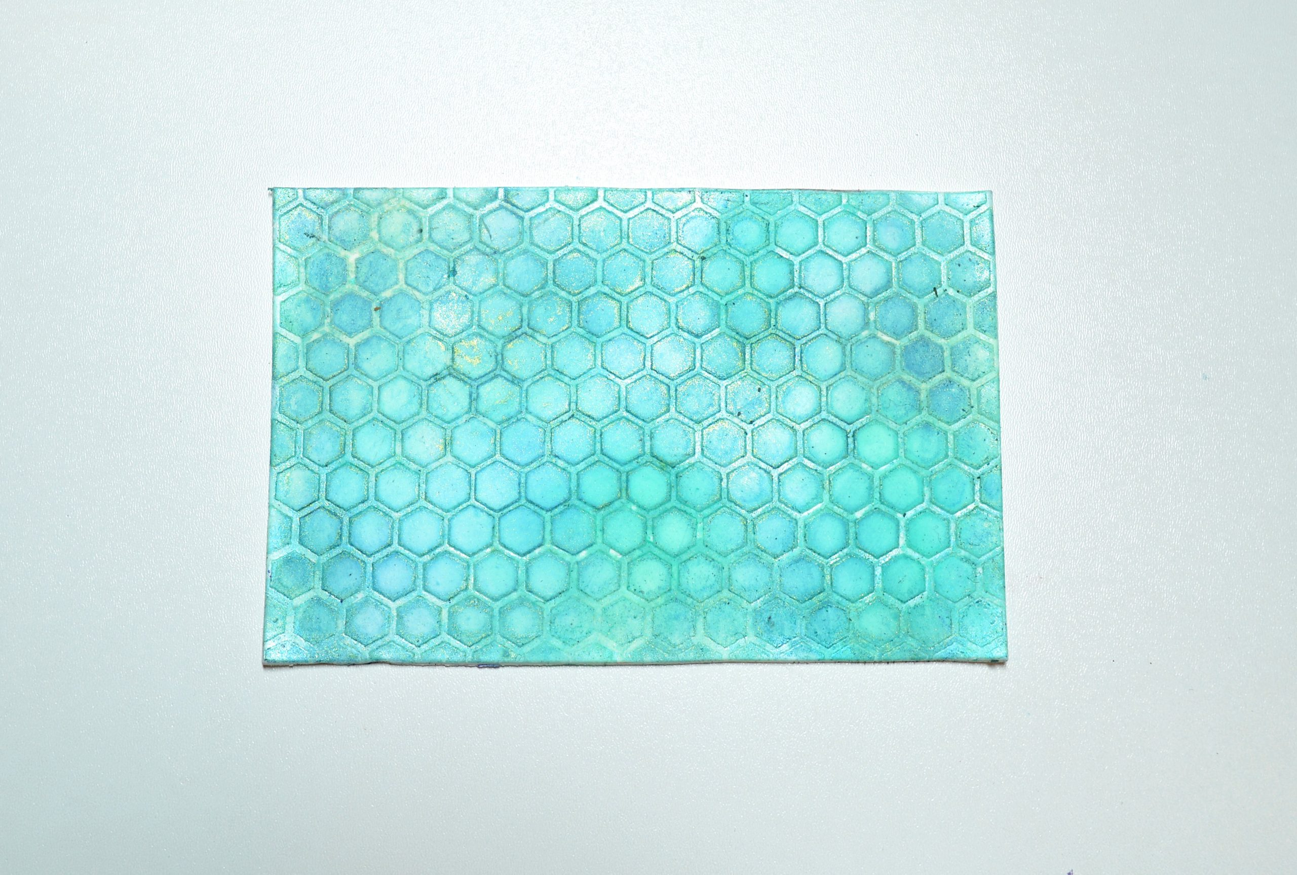 polymer clay stencil honeycomb