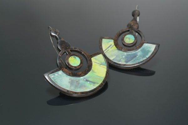 contemporary earrings polymer clay