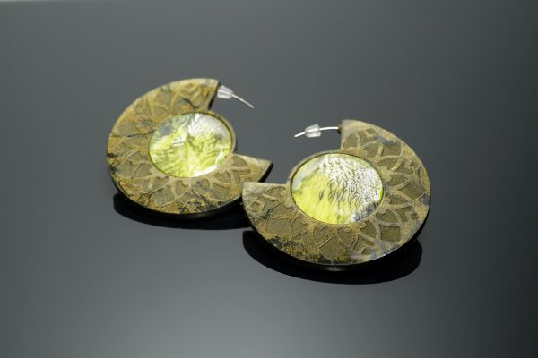 Earring -polymer clay molded